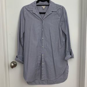 J.Crew Infinity Shirt Blue and White Striped